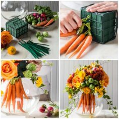 15 beautiful do-it-yourself centerpieces for Easter decoration Creative Flower Arrangements, Spring Flower Arrangements, Flower Arrangement Designs, Floral Centerpieces, Floral Arrangements, Decoration Evenementielle, Flower Decorations, Table Decorations, Dining Room Table Decor