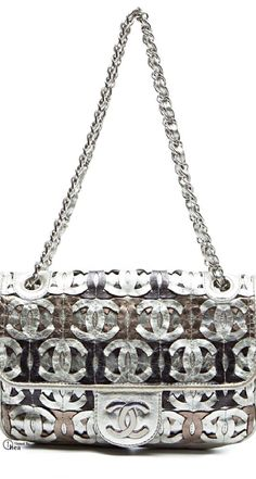 silver.quenalbertini: Chanel, Limited Edition Metallic Etched Bag