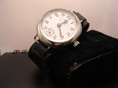 "West End Watch ""Queen Anne"" military trench watch c. WWI (with small replacement crown, different dial)"