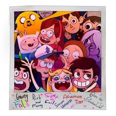 Gravity Falls, Rick and Morty, Star vs. the Forces of Evil, Steven Universe, Adventure Time, and Over the Garden Wall