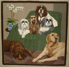 Dog Portrait six of her best friends past and present