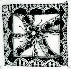 COPADA zentangle - Google Search Tangle Doodle, Doodles Zentangles, Zentangle Patterns, Zen Art, Drawing S, Inktober, Tangled, Weaving, Challenges