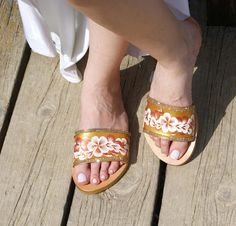 Check out this item in my Etsy shop https://www.etsy.com/listing/519558780/leather-slide-sandals-leather-slippers