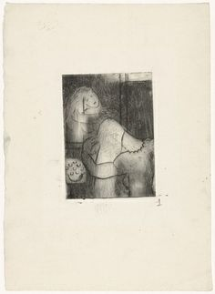 Louise Bourgeois. Morning, state I. (1944)
