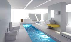 white minimalist interior design - Google-haku