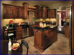 Paint Colors for Kitchens with Dark Cabinets | Dark cabinet kitchen ...
