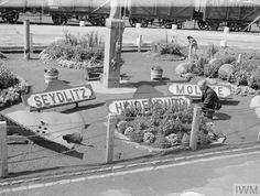 (5) TwitterName plates of old German warships in the garden at Rosyth dockyard in WWII. Wwii, German, British, Plates, Deutsch, Licence Plates, Dishes, World War Ii, German Language