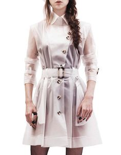 TriBeCa translucent raincoat trench