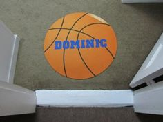 Basketball rug: We were inspired by the Oilo Sticks Crib Bedding Collection in Pewter on csnbaby.com.  The design is very different and modern.  We adapted what they had