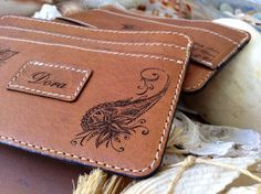 2 Italian Leather Credit Card Holders / by HarrismaLeatherGoods, $60.00