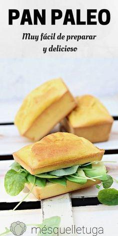 Pan paleo. Pan sin gluten y sin cereales. Muy fácil de preparar y delicioso.