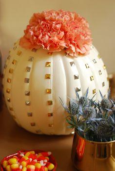 Studded Craft Pumpkin Vase // Twin Stripe
