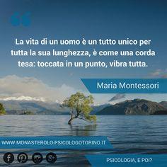 La vita di un uomo è un tutto unico per tutta la sua lunghezza, è come una corda tesa: toccata in un punto, vibra tutta. #Montessori #Aforismi
