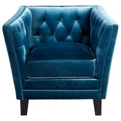 Blue Paisley Velvet Chair: Decorating with blue hues like PPG Voice of Color & PPG Pittsburgh Paints' Color of the Year,  Blue Paisley // Transitional Chairs by Littman Bros Lighting