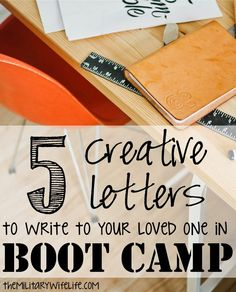 Okay, let's be real. You don't even have to know anybody in boot camp to be able to use these ideas for your letter writing. In fact, most of these ideas have been inspired by letters that I wrote ...
