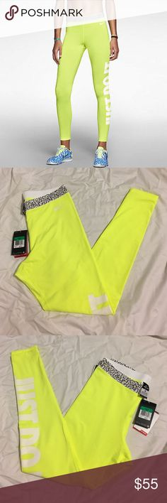 NWT Nike Pro HyperWarm Leggings Neon Yellow XL NWT Nike Pro HyperWarm Compression Mezzo Thermal Leggings Training Tights 640959 Neon Yellow XL  Nike Pro HyperWarm Compression Mezzo Thermal Tight Pants Leggings Training Tights help keep you warm and comfortable when you're training or playing in the cold. Ultra-soft dri-fit jersey fabric helps keep you dry and holds in heat to help keep you warm. The fabric's interior is brushed for a cosy feel. It can be worn alone, but we recommend you…