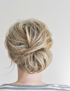hair -- like this but centered (not off to the side)