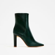 LEATHER HIGH HEEL ANKLE BOOTS-Ankle boots-SHOES-WOMAN | ZARA United States