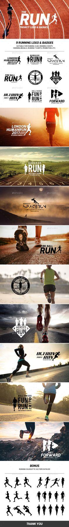 Running Logo & LOGO & BADGES suitable for Running club, Running Events Running Medals, Running T-Shirts, promotion, Running Pose, Running Club, Running Man, Running Workouts, Running Tips, Trail Running, 2 Logo, Badge Logo, Web Design