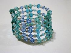 Hey, I found this really awesome Etsy listing at https://www.etsy.com/listing/220476553/4-rows-blue-crystal-swarovski-elements