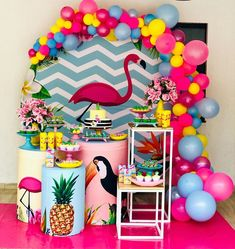 how to organize creative ideas (PHOTOS) - Birthday FM : Home of Birtday Inspirations, Wishes, DIY, Music & Ideas Flamingo Birthday, Luau Birthday, Flamingo Party, First Birthday Parties, Birthday Party Themes, Birthday Ideas, Fiesta Party, Luau Party, Farm Party