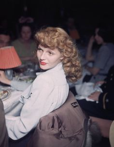 rita hayworth- I love seeing her in color!!!