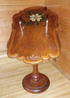 VINTAGE SHABBY RUSTIC WOODEN COUNTER RECIPE INDEX CARD STAND HOLDER DOG WOOD