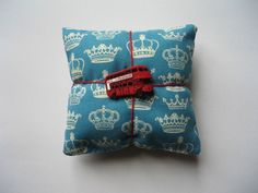 Royal Crown Fabric Pin Cushion with Decorative London Buttons £3.00