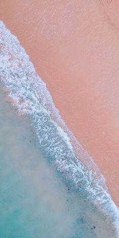 Nature, soft, sea waves, aerial view, beach, 1080x2160 wallpaper