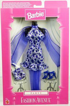 Barbie Party Fashion Avenue Purple/Silver Dress #18155 New NRFP 1998 Mattel 3+   eBay