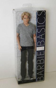 Barbie Basics Ken Doll Blonde Jeans Model 16 Collection 002 Black Label NRFB   #Mattel #DollswithClothingAccessories
