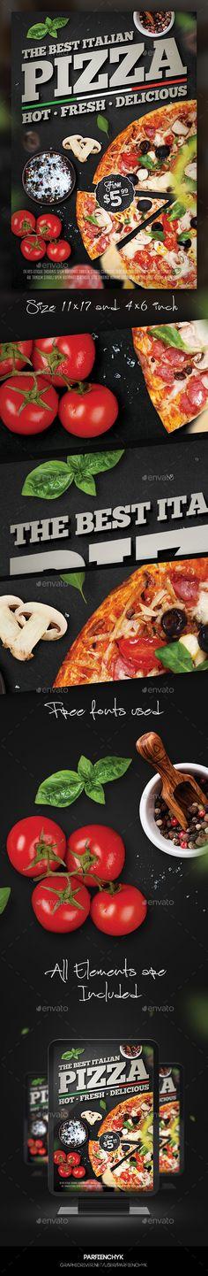 Pizza Flyer Template PSD #design Download: http://graphicriver.net/item/pizza-flyer-template/14118823?ref=ksioks