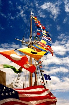 """Tall Ship """"in dress"""" always includes signal flags!"""
