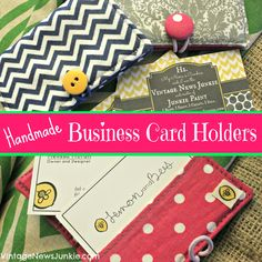 Bright Handmade Business Card Holders