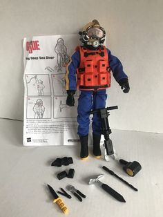 GI Joe Navy Deep Sea Diver Hasbro Last picture was added later. I believe this piece is part of the missing tank. 1960s Toys, Retro Toys, Vintage Toys, Gi Joe, Military Humor, Military History, Childhood Toys, Childhood Memories, Deep Sea Diver