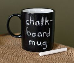 Graduation Gift Chalkboard Mug | Large Mug | Coffee Tea Cup | Chalk Board | Blackboard | Thank You Gift | Hand-painted Mug | School Teacher