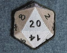 D-20 iron on patch
