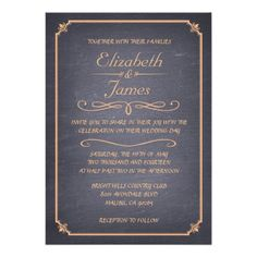 ReviewPeach Vintage Chalkboard Wedding Invitations Invitationwe are given they also recommend where is the best to buy