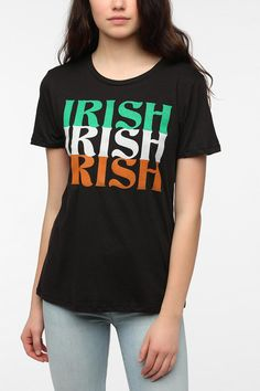 7a309a231db Corner Shop Irish Text Tee  UrbanOutfitters Irish American