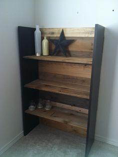DIY pallet bookshelf. Nice size and sturdy.
