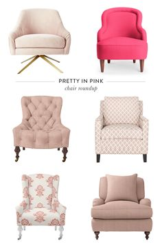 The prettiest pink armchairs that will make your living room POP: http://www.stylemepretty.com/living/2016/03/02/12-pink-chairs-that-steal-the-show/