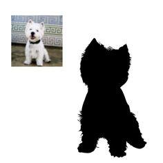 Custom Dog Silhouette...awww, this is so precious!!