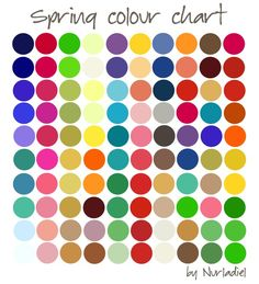 Spring color chart