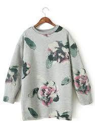 Image result for floral sweatshirt