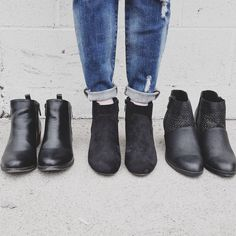 Basic black booties are a must have in any fashionista's wardrobe!  These go-to beauties will dominate your footwear game #uoionline