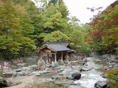 """Takaragawa (Takaragawa, Gunma-ken) - •óì (•óì, ŒQ""""nŒ§) This onsen is not only great, but also not too far from Tokyo (at least in Japanese standards), making it one of the most visited konyoku (mixed bath) by foreigners. Three very large baths (200, 100 and 50 tatami) are located on both side of a river, in a very quiet area. However, because of its reputation - it is the biggest rotenburo in Japan - it can get pretty packed."""