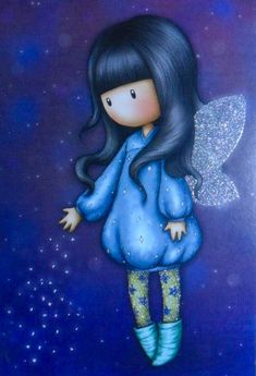 Cartoon Girl Drawing, Girl Cartoon, Angel Art, Fairy Art, Love Painting, Cute Drawings, Cute Art, Paper Dolls, Painted Rocks