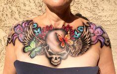 Temporary tattoos Hot Tattoos, Skull Tattoos, Body Art Tattoos, Sleeve Tattoos, Lower Back Tattoo Designs, Tattoo Designs For Girls, Lower Back Tattoos, Ab Tattoo, Full Body Tattoo