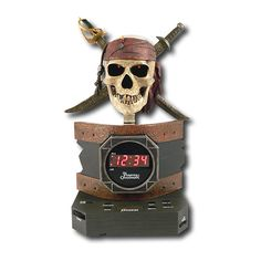 Disney PC300ACR Pirates of the Caribbean Alarm Clock Radio (Discontinued by Manufacturer) * Huge discounts available now! : Home Decor Clocks