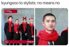 fucking hell kyungsoo you can't wear them for even ONE picture < I'm crying bc this is too funny